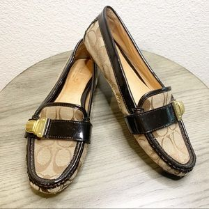 Coach Pauleen Loafers in Brown Print